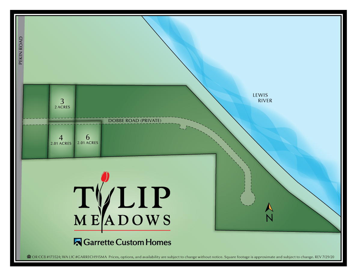 Homes in Woodland WA at Tulip Meadows